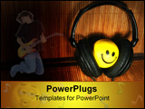 PowerPoint Template - photo of the smiling face with the headphones
