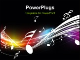 PowerPoint Template - Music theme for more background of this type please visit my gallery, vector illustration