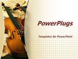 PowerPoint Template - Close up of violin. Music concept.