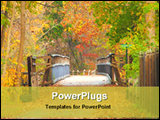 PowerPoint Template - a wooden bridge in a forest
