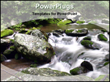 PowerPoint Template - lose mountain stream