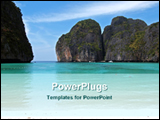 PowerPoint Template - beach and mountain