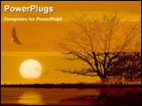 PowerPoint Template - sunset view beside a river