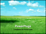 PowerPoint Template - landscape view under sky