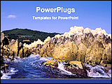 PowerPoint Template - rocks beside the sea