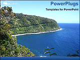 PowerPoint Template - maui ocean view from top of the hills