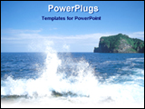 PowerPoint Template - a view of a sparkling sea wave