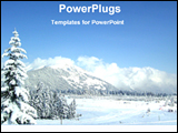PowerPoint Template - a view of a winter wonder land