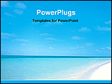PowerPoint Template - a pleasant view of a blue sea beach