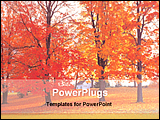 PowerPoint Template - a view of a maple tree garden