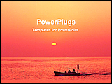 PowerPoint Template - scene of a sunset