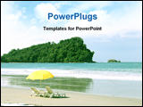PowerPoint Template - Tropical beach Manuel Antonio Costa Rica