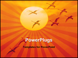 PowerPoint Template - birds returning at sunset