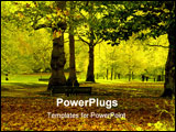 PowerPoint Template - pretty autumn park scene