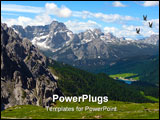 PowerPoint Template - The photo taken in Italy, dolomit mountains, over 3000 meters