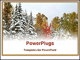 PowerPoint Template - early snowfall