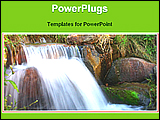 PowerPoint Template - a view of small water fall