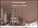 PowerPoint Template - beautiful view of a winter evening