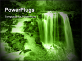 PowerPoint Template - A large Waterfall in Forest
