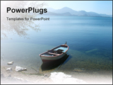 PowerPoint Template - Tranquil scene of Lake Egirdir in Turkey.
