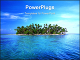 PowerPoint Template - Sunny Palm tree Island