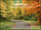 PowerPoint Template - A capture of a road leading into the fall foliage