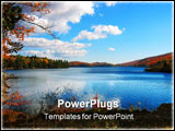 PowerPoint Template - Meech lake in the gatineau hills, quebec, photographed in autumn