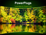 PowerPoint Template - risp Bright Fall Colors Reflecting on a Tranquil Lake ** Note: Slight blurriness, best at smaller s