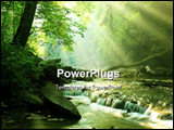 PowerPoint Template - God Beams illuminate creek