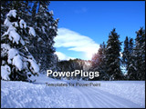 PowerPoint Template - Winter driving on rural roads in central Idaho