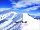 PowerPoint Template - Beautiful winter landscape with snow and mountains