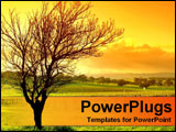PowerPoint Template - sunset with tree