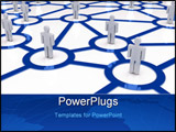 PowerPoint Template - A business network concept - 3d render