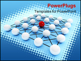 PowerPoint Template - Large network - network with one leader