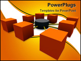 PowerPoint Template - network with classic database icon