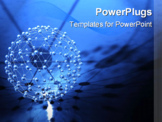 PowerPoint Template - Abstract network 3d render with molecular like structure.