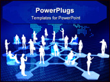 PowerPoint Template - Concept of how people connected via internet as a social or business networking activities.