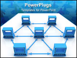 PowerPoint Template - network computer generated illustration for concept disign