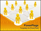 PowerPoint Template - Network of Connected People, symbolizes Internet, Franchise, Group, Teamwork etc.