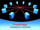 PowerPoint Template - computer network segment. network topology scheme 3d render