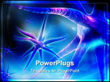 PowerPoint Template - Digital illustration of 3d rendering neuron in color background