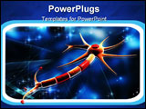 PowerPoint Template - Digital illustration of neuron in colour background