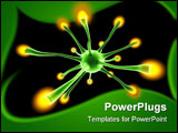 PowerPoint Template - 3D rendered Illustration. Image of a neuronal cell.