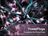 PowerPoint Template - 3d rendered illustration of a neuron cell
