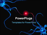 PowerPoint Template - 3d rendered illustration of the communicating between neuron cells