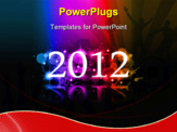 PowerPoint Template - 2012 New Year celebartion background for cover, Flyer or poster with glitter elements and rainbow colors.