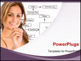 PowerPoint Template - business woman drawing a business plan isolated over a white background