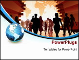 PowerPoint Template - invest in your future concept with blue curtain hand and black background