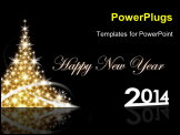 PowerPoint Template - New year & Christmas concept