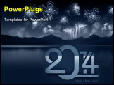 PowerPoint Template - New year concept